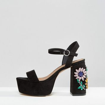 ASOS HOT MAMA Embellished Platforms at asos.com