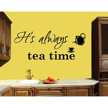 Wall Decal Kitchen Cafe Restaurant Coffee Tea Quote Words Phrase Vinyl Sticker (ed1479)