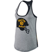 Pittsburgh Steelers Nike Tank Top Womens Helmet Tri-Blend