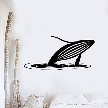 Vinyl Wall Decal Whale Water Ocean Animal Room Decoration Stickers Mural (ig5412)