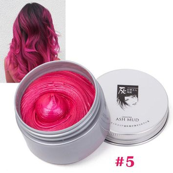 DIY Grandma Grey Hair Color Wax Harajuku Style Hair Coloring Modeling 7 Color Temporary Hair Dye Cream Mud  Styling Tools