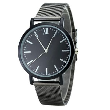 Fashion Super Thin Case Watch Band Wrist Watch