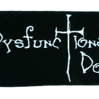 Dysfunctional Doll Logo Patch Iron on Applique Alternative Gothic Clothing