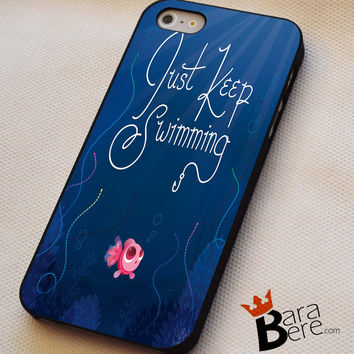 Just Keep Swimming iPhone 4s iphone 5 iphone 5s iphone 6 case, Samsung s3 samsung s4 samsung s5 note 3 note 4 case, iPod 4 5 Case