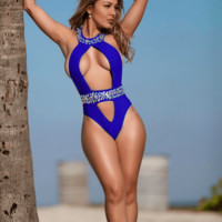Diamonds Are Forever Blue One Piece Monokini