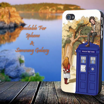 Alice Wonderland and Doctor Who - Print on hard plastic for iPhone case. Please choose the option.