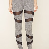 Active Mesh-Insert Leggings | Forever 21 - 2000171307