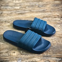 Adidas Benassi Swoosh Sandals Style #5 Blue Slippers - Best Online Sale