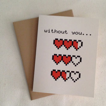 My hearts are empty, Love Card