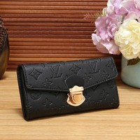 Louis Vuitton Women Fashion Shopping Leather Buckle Wallet Purse