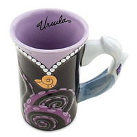 disney parks ceramic the little mermaid ursula dress cup mug new
