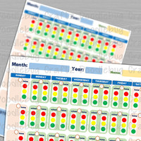 Kids Monthly Behavior Chart - Home & School - Red, Yellow, Green Light System - Tracker - Log - INSTANT DOWNLOAD - The EASY Life - Children