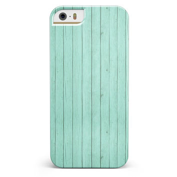 The Mint Green Wood Planks  iPhone 5/5s or SE INK-Fuzed Case