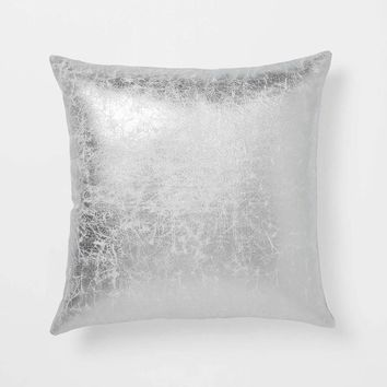 Crackle Metallic Pillow