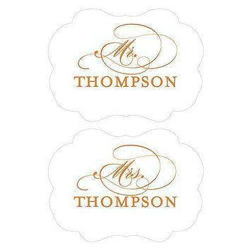 Personalized Mr. & Mrs. Paper Chair Markers Berry (Pack of 1)