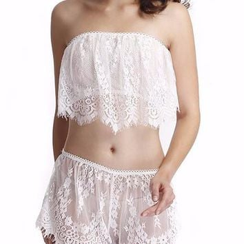 Lace Lingerie Maching Set