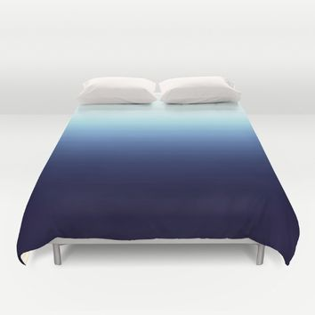 Nautical Blue Ombre Duvet Cover by 2sweet4words Designs
