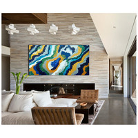 "Original Modern Abstract Texture Palette Knife Acrylic Painting ""SUPERNOVA 2 """