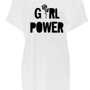 Girl power unisex womens mens top print Tshirt Feminist protest anti trump | eBay