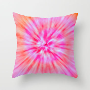 TIE DYE Throw Pillow by Nika