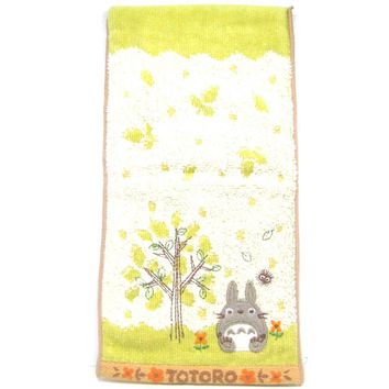 Small My Neighbor Totoro Embroidered Bath Wash Scrub Towel in Light Green | Studio Ghibli Japan