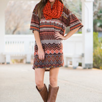 Fall Into Your Arms Tunic, Rust