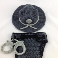 State Trooper Baby Outfit Police Officer Baby Deputy Sheriff Baby Police Outfit Park Ranger Baby Police