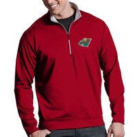 Minnesota Wild Antigua Leader 1/4 Zip Pullover - Red
