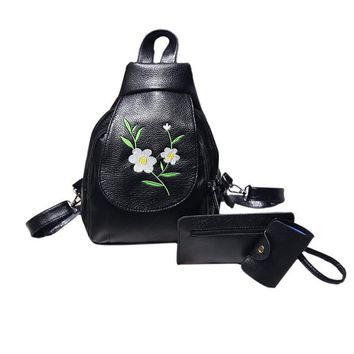 Women Black Travel Faux Leather Backpack Shoulder women teenagers cute school women teenagers backpack