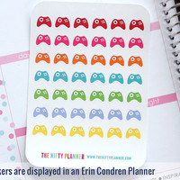 Video Game Controller Stickers - 42 Planner Stickers - 1 Sheet | Stickers for your daily planner, calendar, agenda
