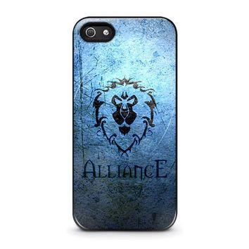 world of warcraft alliance wow iphone 5 5s se case cover  number 1