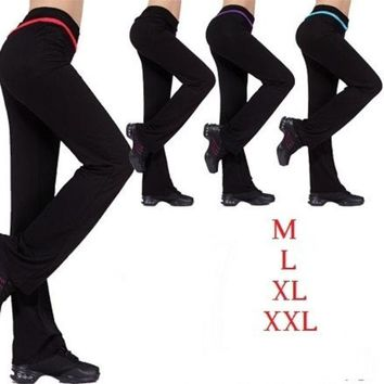 DCCKIX3 women's modal plus size dance long sports trousers 4 colors fitness confortable yoga pants = 1932041348