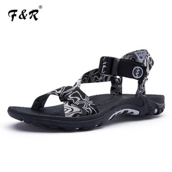F&R 2018 Summer New Outdoor Sport Hiking Rubber Beach Sandals Non-slip Breath Cool Sea Outdoor Playa Gladiator Sandals