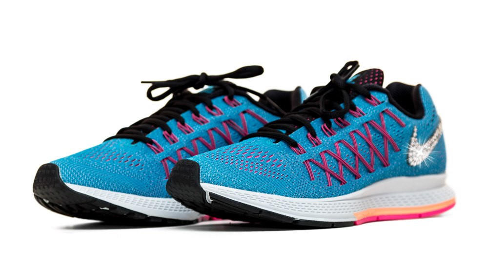 Nike Air Zoom Pegasus 32 - Crystallized Swarovski Swoosh - Blue 5431ff45f
