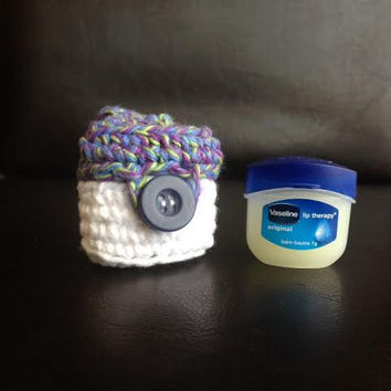 Mini Vaseline Lip Therapy Holder  - White & Blue
