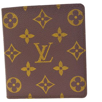 Authentic LOUIS VUITTON Bifold Wallet Purse Monogram Leather Brown 60EF486