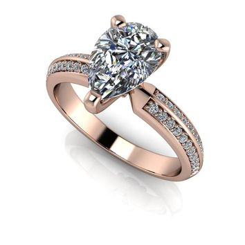 Pear Cut Diamond Engagement Ring - Celestial Premier Moissanite Ring