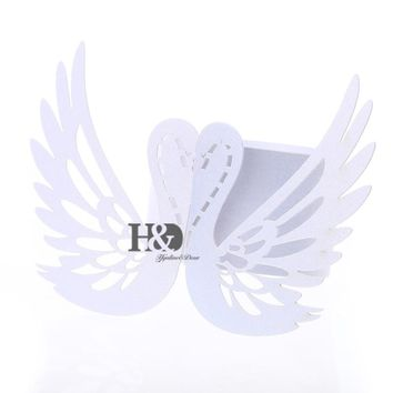 Big Sale! 60pcs Hollow out Swan Shape Laser Cut Paper Napkins Rings Holders casamento Wedding Party Decoration Favors and Gifts