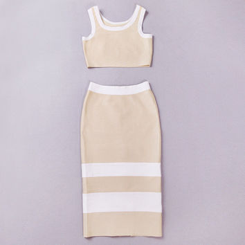 Women's Fashion Ball Gown Sexy Bandages Dress Bottom & Top [4919116292]