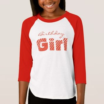 (Red) Birthday Girl Raglan T-Shirt