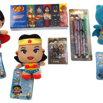 Batman v Superman Justice League Wonder Woman Jelly Belly Beans Gel Pens Cards