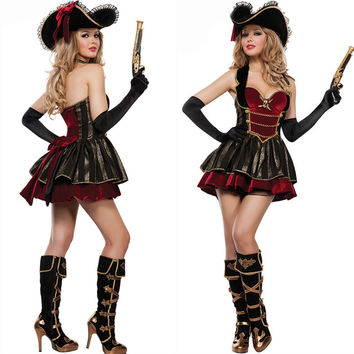 Pirate Halloween Backless Pirate Uniform [9220883396]