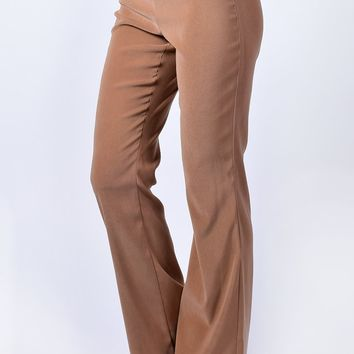 Deadstock Mariah Belted Flares - Tan