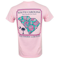 Southern Couture Paisley SC T-Shirt - Pink