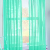 No. 918 Calypso Sheer Voile Rod Pocket Curtain Panel, 59 x 84 Inch, Sky Blue