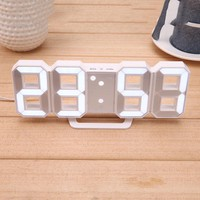 Digital LED Table Clock Electronic Wall Clock 12/24 Hours Display Alarm Clock and Snooze 8888 Display Blue Green Red White
