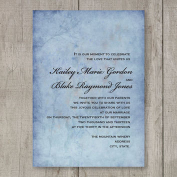 Printable Boho Chic Wedding Invitation - Batik-look in Pinks & Purple, Blues, Browns