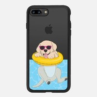 iPhone 7 Plus Case (New Black), Swimming Yellow Labrador by Megan Roy | Casetify (iPhone 6s 6 Plus SE 5s 5c & more)