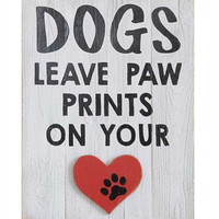 Dogs Leave Paw Prints on Your Wall Decor