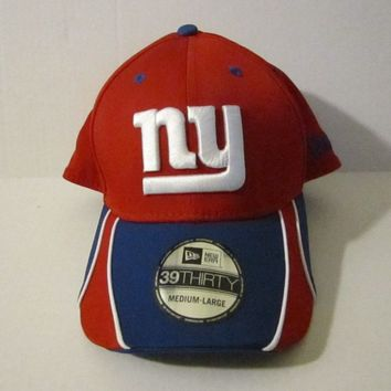 New ERA NFL New York Giants Vizaslide 39-Thirty Flex Fit Hat (Medium - Large)